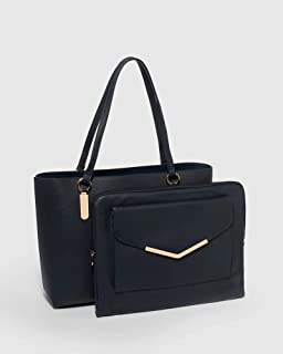 Navy Angelina Tote Bag