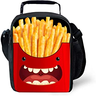 7-Mi 3D Design Children Lunch Box For School Unisex Insulated Meal Tote Storage Bag French Fries