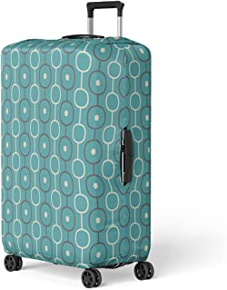 Pinbeam Luggage Cover 1950S Retro Abstract Atomic Era Pattern Mid Century Travel Suitcase Cover Protector Baggage Case Fits 26-28 inches