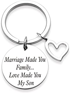 Ahora Son in Law Gift Keychain Marriage Made You Family Love Made You My Son Wedding Gift Family Jewelry