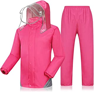 Radvihay Rain Suit for Men Rainwear (Rain Jacket and Rain Pants Set) Adults Hooded Outdoor Work Motorcycle Golf Fishing (S...