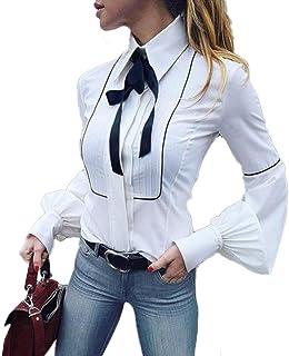 Freizeit Bluse-Oberteile Damen Hemd Durchsichtig Langärmlig Schier Unterwäsche