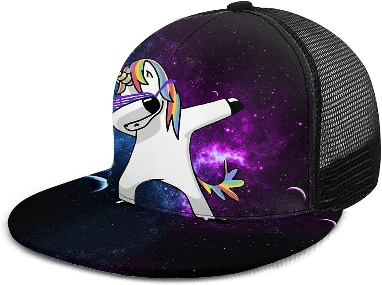 YIBEIKJ Dinosaur Snapback Hat for Men Hip Hop Flat Bill Cap Trucker Hat Adjustable Mesh Baseball Cap