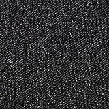 Monster Shop - 20 Quadrotte di Moquette 50x50cm Colore Nero Carbone 5mq Dure Commerciali per Pavimenti di Case e Uffici