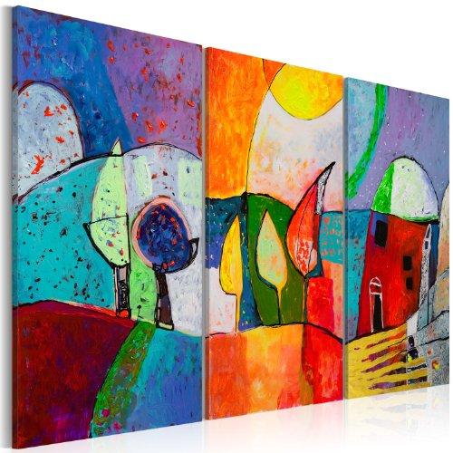 murando Quadro Dipinto a Mano 3 Parti Quadri Moderni su Tela Pittura Disegni Unici ed Irripetibili Motivi d'autore Decorazione da Parete astrazione 5520 120x80 cm