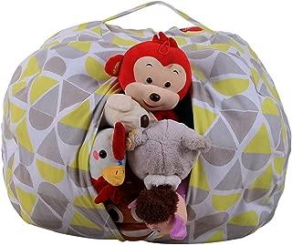 Sulifor home toy storage bag children plush animal plush toy storage bean bag soft bag stripes chair  Cotton