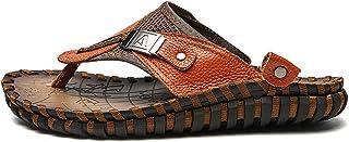 049c1a3b5 TQGOLD Hombre Mujer Sandalias de Verano Zapatos de Playa Chanclas  Zapatillas de Piel de Vacuno