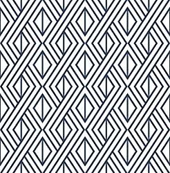 NextWall Diamond Geometric Peel and Stick Wallpaper Decor (Navy Blue)