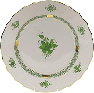 Herend Chinese Bouquet Green Porcelain Dinner Plate