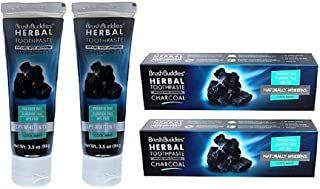 Brush Buddies Herbal Toothpaste Infused With Activated Charcoal in Cool Mint, 2-Pack