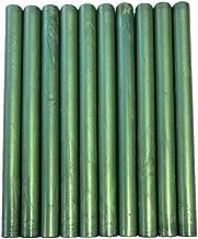 XICHEN10PCS Vintage Sealing Glue Gun Sealing Wax Wax Sticks Wax Seal Supplies a Variety of Colors (Pine Green)