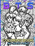 Bts Coloring Book: Bts Featuring Enchanting Coloring Books For Adults And Kids - (On-the-Go Book)
