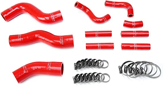 HPS Black Silicone Radiator Heater Hose Kit Coolant OEM Replacement 57-1690-BLK