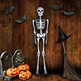 ArtCreativity Halloween Skeleton Inflate Decoration - 6ft Tall - Cute and Creepy Home Decor - For Indoor and Outdoor Use - Halloween Party Supplies, Contest Prize for Kids