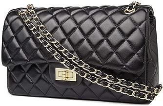 Classics women's lambskin flap shoulder bags luxury diamond square striped bag chain caviar leather handbags