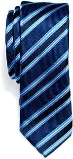 Retreez Preppy Stripe Pattern Woven Microfiber Skinny Tie Necktie - 5 Colors