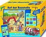 Auf der Baustelle: Buch und Sound Spiel-Set mit Spielzeug Smartphone und 17 Geräuschen und Melodien