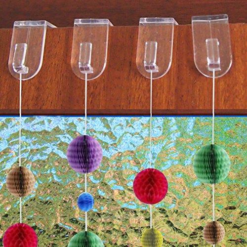 20 Stück Fensterhaken Türhaken Fenster Dekoration transparent Weihnachtsdeko