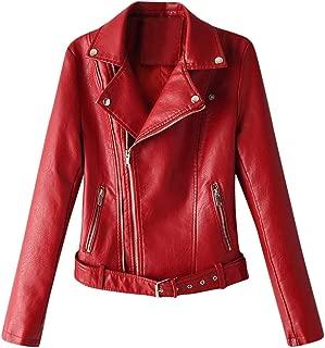 Xinantime Womens Solid Bomber Jacket Retro Rivet Coat Zipper Up Outwear Winter Blouse