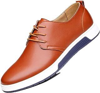 Jojsely56 Especialmente tamaño Moda Manual Tejido Botas de Cuero Zapatos de holgazán de Cuero de tamaño más Grande Zapatos...