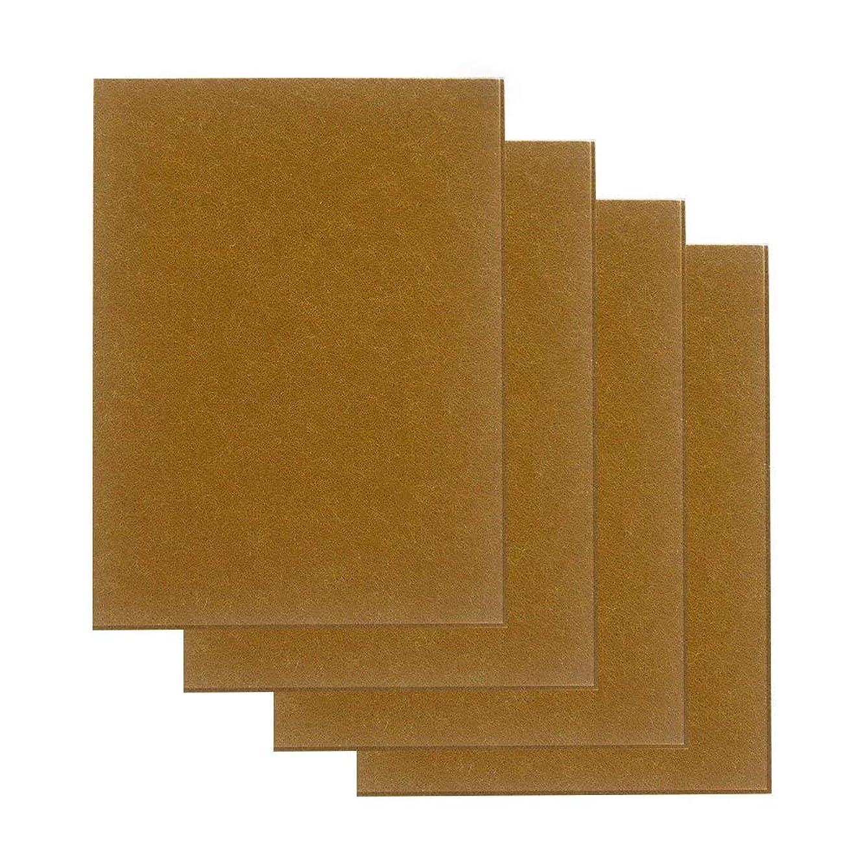 始めるコンプリート健康的フェルトシート 大判15cm×20cm 厚さ4mm セルフ粘着 床のキズ防止 家具保護パッド 4枚入