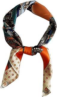 روسری FONYVE Silk Feeling Scarf Medium Square Satin Head روسری زنانه 27.5 × 27.5 اینچ