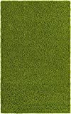 Unique Loom Solo Solid Shag Collection Area Modern Plush Rug Lush & Soft, 5' 0 x 8' 0, Grass Green