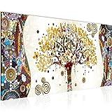 Cuadro en LienzoGustav Klimt Árbol de la vida 100 x 40 cm - XXL Impresión Material Tejido no Tejido Artística Imagen Gráfica Decoracion de Pared -1 pieza - Listo para colgar -004612a