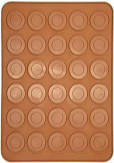1 Tapis de Cuisson pour 30 Trous Macaron Tapis Macarons Forme Ronde Feuille de Macaron en Silicone Outil de Cuisson de Gât...