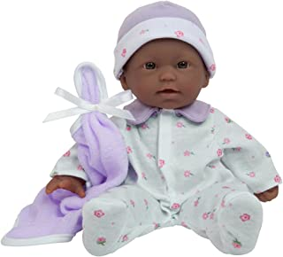 La Baby Boutique African American 11 inch Small Soft Body Baby Doll dressed in Purple for Children 12 Months and older