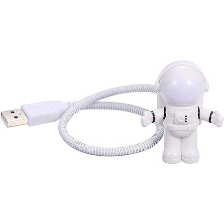 PC Wei/ß Lampe f/ür Laptop qianqian56 USB-Astronauten-Antrieb Mini-LED-Nachtlicht