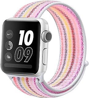 متوافق مع حزام ساعات Apple 38mm 42 مم ناعم وخفيف الوزن ومسامي حزام بديل لساعة Apple متوافق مع iWatch Series 1/2/3/4 (42 مم...