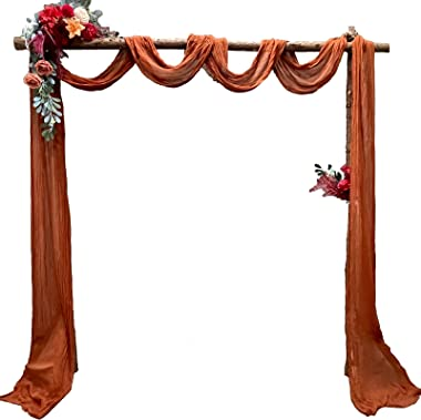 EH Linen Cheesecloth Gauze Table Runner,Wedding Decor Arch Draping,Gauze Event Centerpiece Runner, Bridal Shower Runner,Extra