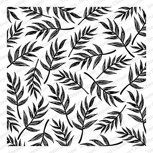 Impression Obsession CC332 Sketched Palm Leaves Cover-a-Card Unmounted Cling Rubber Stamp
