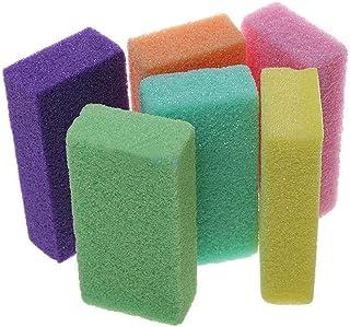 RONSHIN Beauty Accessories for 10 Pcs Pumice Sponge Exfoliating Hard Dead Skin Callus Remover Scrub Pedicure File Random Color