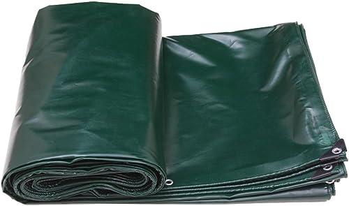 Tarpaulin HUO Toile Extérieure De Tente De Camping De Bache Forte, Tissu Anti-UV De Hangar Imperméable, 520g   M2 (Couleur   Vert foncé, Taille   5  8M)