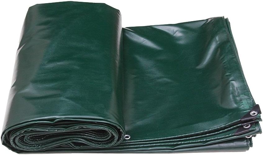 Tarpaulin HUO Toile Extérieure De Tente De Camping De Bache Forte, Tissu Anti-UV De Hangar Imperméable, 520g   M2 (Couleur   Vert foncé, Taille   4  6m)