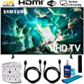 Samsung RU8000 LED Smart 4K UHD TV (2019) w/Accessories Bundle Includes, 2X 6ft HDMI Cable, Universal Screen Cleaner (Large Bottle) and SurgePro 6-Outlet Surge Adapter w/Night Light