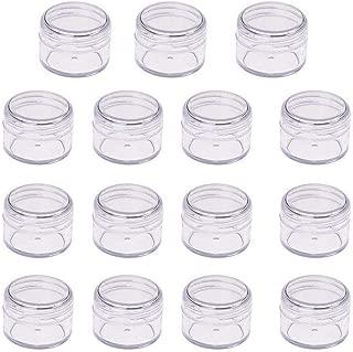 NACTECH 24pcs Tarros Vacio 40ml Contenedor Envase Cosm/ética Peque/ño Botes de Pl/ástico con Tapa Recipientes para Cremas Almacenamiento Especias Limo