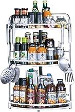 XXT regał kuchenny ze stali nierdzewnej Multi-Layer, regał magazynowy, trzy poziomy (rozmiar: S)