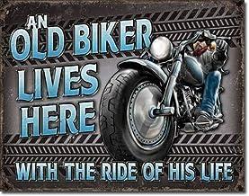 Motorcycle sign  . 8x12 metal sign EVOLUTION OF THE BIKER