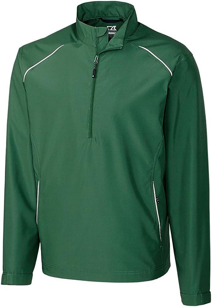 Cutter & Buck BCO00922 Mens Cb Weathertec Beacon Half Zip Jacket, Hunter-LT
