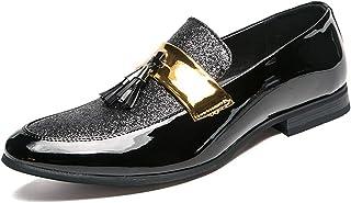 [WEWIN] ビジネスシューズ メンズ タッセルローファー スリッポン モカシン 革靴 軽量 皮 ドライビングシューズ オペラシューズ 紳士靴 カジュアル ファッション