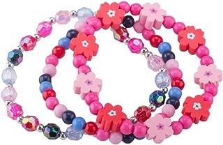 Bracelet Set Kids jewelry- Flower Beads Bracelet for Girls-Children's Fashion Jewelry Set of 3