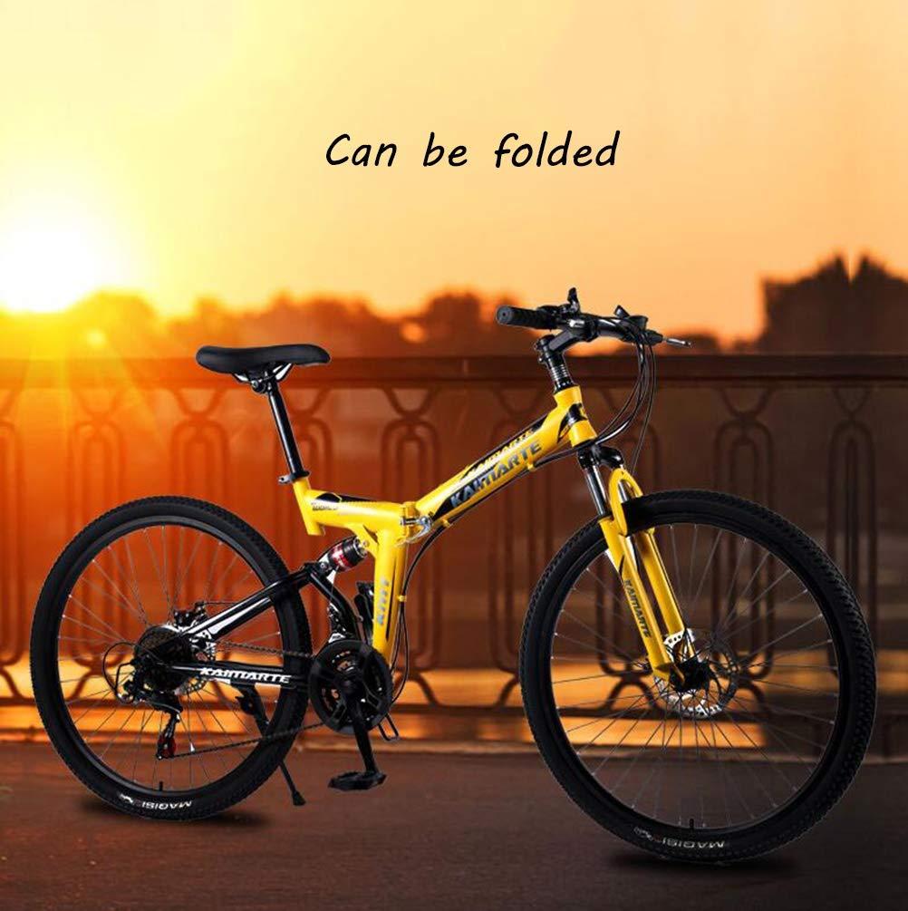 Tbagem-Yjr 24 Pulgadas Bicicleta De Montaña Plegable, 24 De ...