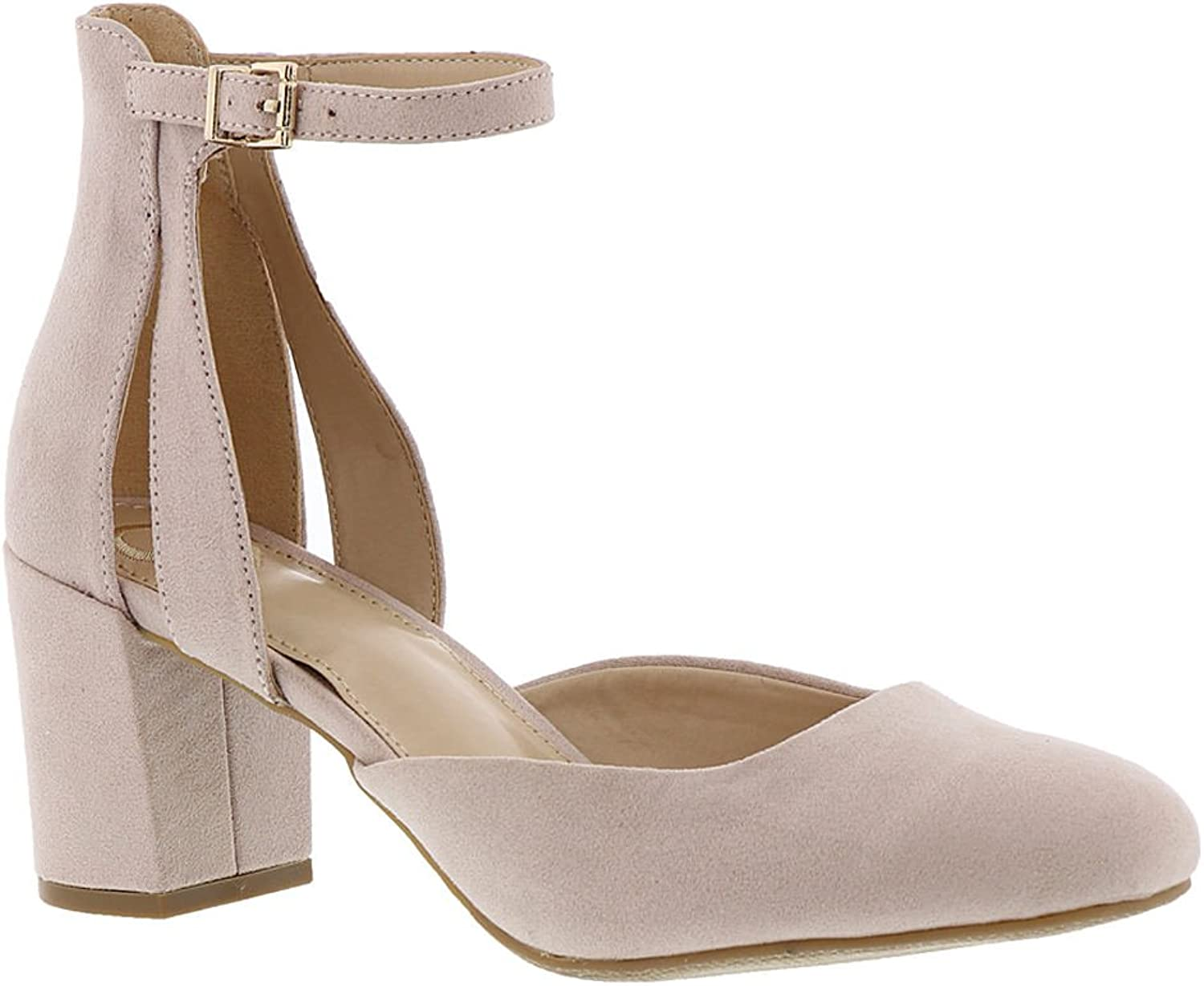 Madeline Womens Flirt Suede Closed Toe Casual Ankle Strap Sandals