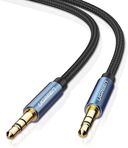 UGREEN 3.5mm Auxiliary Audio Cable Compatible for iPhone, iPad or Smartphones, Tablets, Media Players (3ft, Blue)