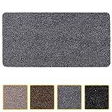 ANRO Felpudo atrapasuciedad lavable, impermeable, resistente, para entrada, puerta de casa, pasillo, cocina, dormitorio, tamaño 40 x 60 cm, color gris