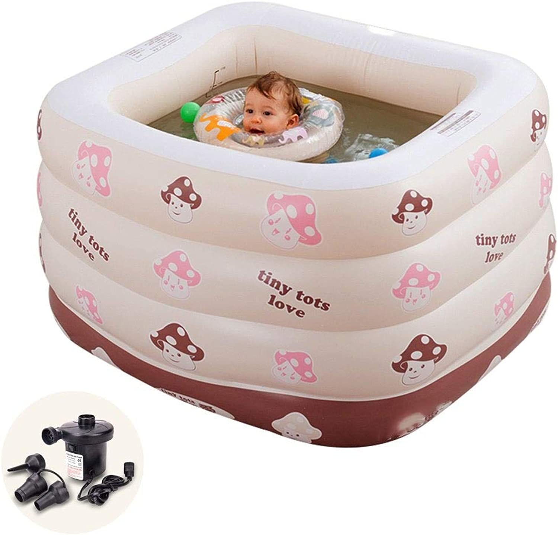 TYUIO 赤ちゃんインフレータブルプールバスタブ、ポータブルインフレータブルプール子供水遊び楽しい旅行エアシャワー盆地シート風呂子供のため屋外ビーチ夏のパーティー