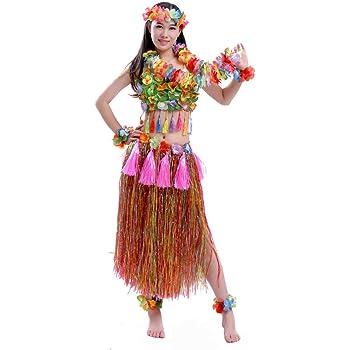 chinejaper Disfraz Hawaiana Mujer Juego De Disfraces Hawaianos De ...